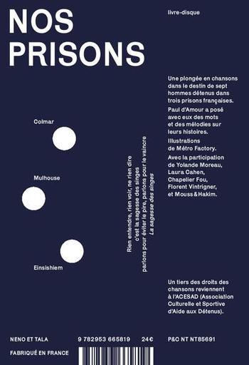 pochette Nos prisons - Paul d'Amour