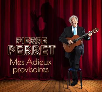 pochette Mes Adieux provisoires - Pierre Perret